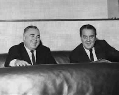 The producers of the 'new' Bond film,  Albert R. Broccoli and Harry Saltzman.