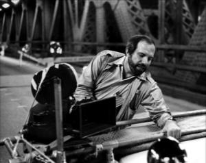 Brian De Palma on set of 'Warhead'