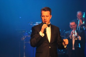 Matthew Walker performs most of the Bond songs by male singers