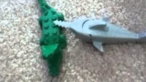 Lego shark/croc showdown – shark win