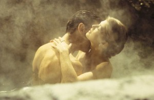 One of the steamy sex scenes featuring Bond and Gala Brand