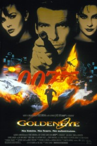 Goldeneye film poster, this time released in 1996