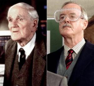 Desmond Llewelyn and John Cleese