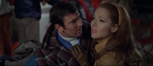George Lazenby and Diana Rigg as James Bond and Tracy di Vicenzo