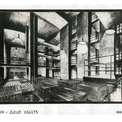 Ken Adam's original drawings for Fort Knox