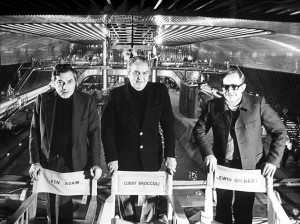 Ken Adam, Cubby Broccoli, and Lewis Gilbert on the set of The Spy Who Loved Me, 1977