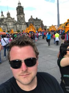 Ben Waterworth at the Day of the Dead Festival