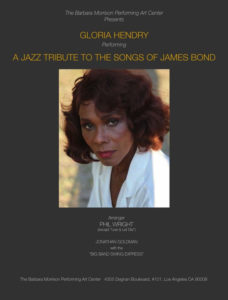Poster for Gloria Hendry's Jazz Tribute to the Music of James Bond