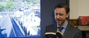 Steve Cole reading at Fettes College